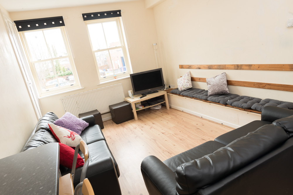 Ormskirk Student Accommodation, Burscough Street property – lounge area