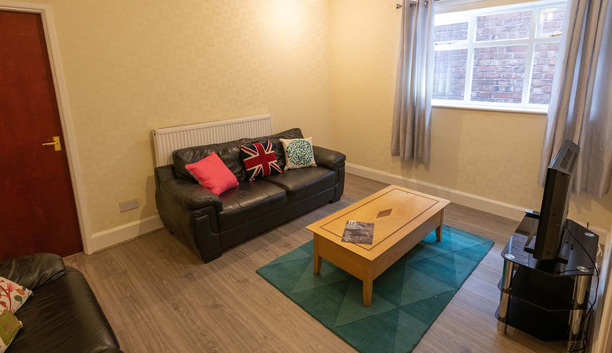 Church Street Property, Ormskirk; Student House lounge area