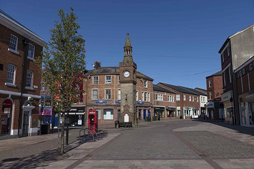 Ormskirk Town Centre Clock Tower