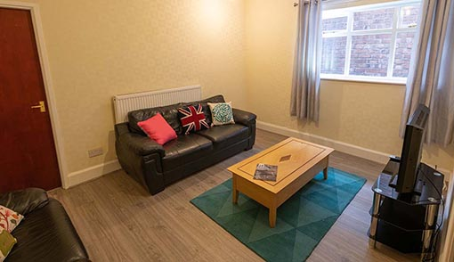 Student Accommodation Living Room - Church Street, Ormskirk